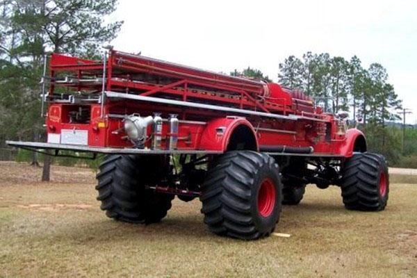 消防车狂改世界最大最重越野车