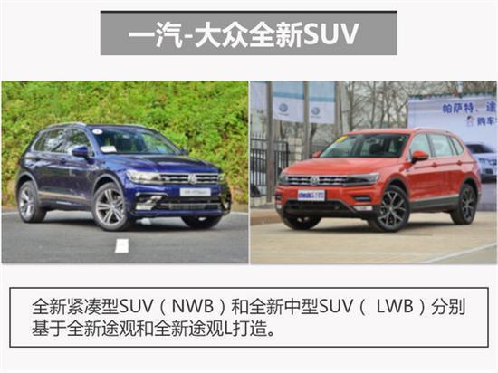 一汽 大众将投产3款SUV覆盖大中小三级高清图片
