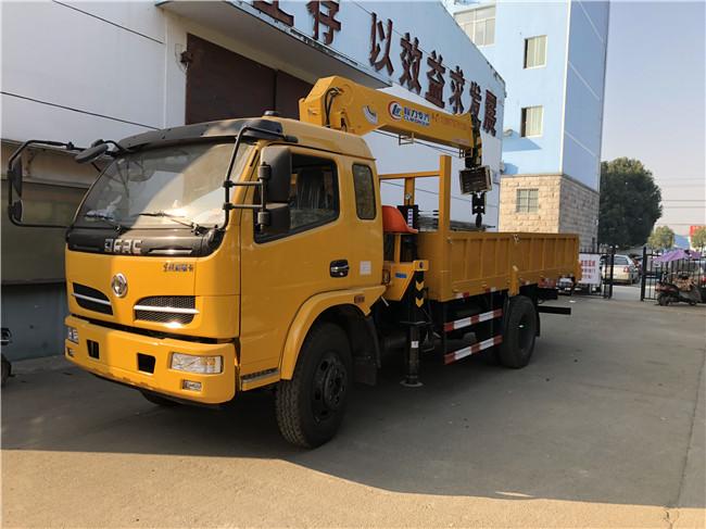 东风福瑞卡随车吊上黄牌配6.3吨吊机