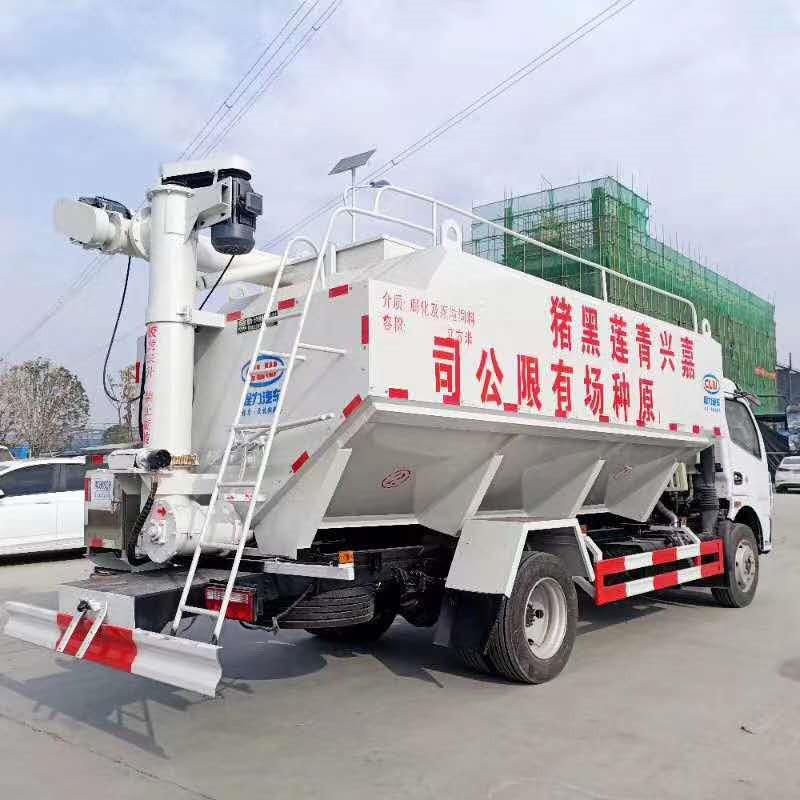 东风饲料车价格_东风天锦饲料车厂家_东风天龙8吨饲料车配置