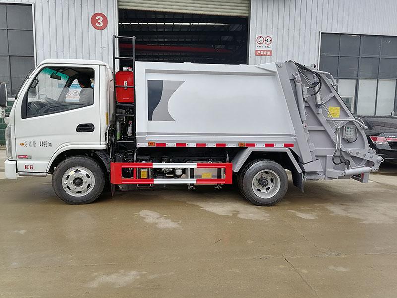 凯马蓝牌4吨压缩式垃圾车图片