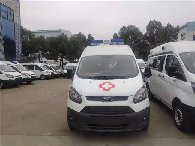 国六福特新全顺救护车,中轴中顶运输型救护车,负压救护车