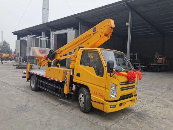 国六江铃顺达蓝牌17.5米直臂伸缩式高空作业车厂家现车星辉代理促销