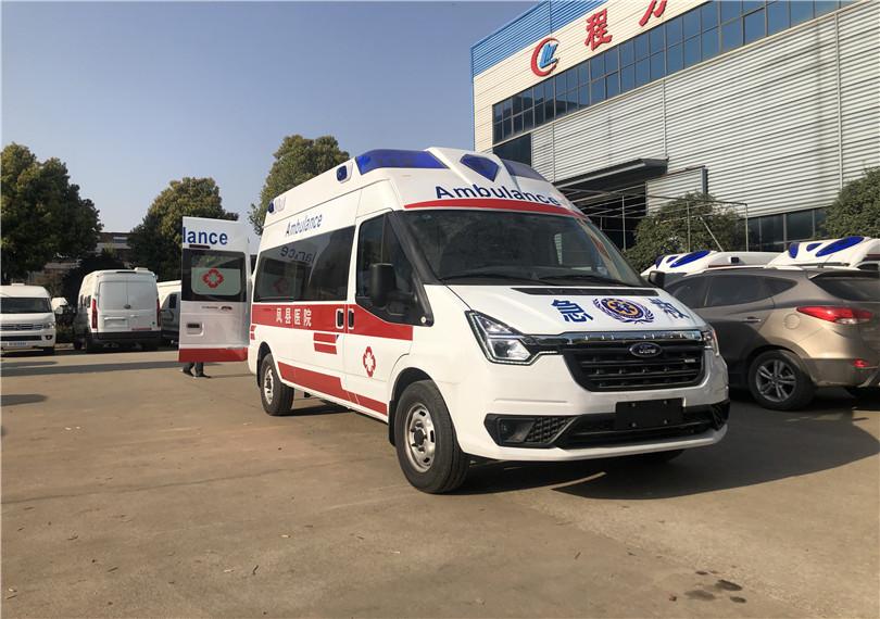 国六福特新款自动挡救护车——国六V348自动档救护车——国六小型救护车