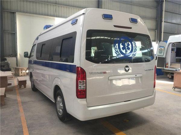 最新热卖车型福田G9救护车高顶中轴医疗急救车厂家出厂价格