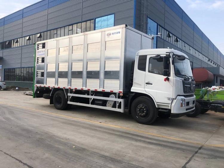 东风天锦全铝合金恒温运猪车6米8小猪苗运输车报价多少钱一辆