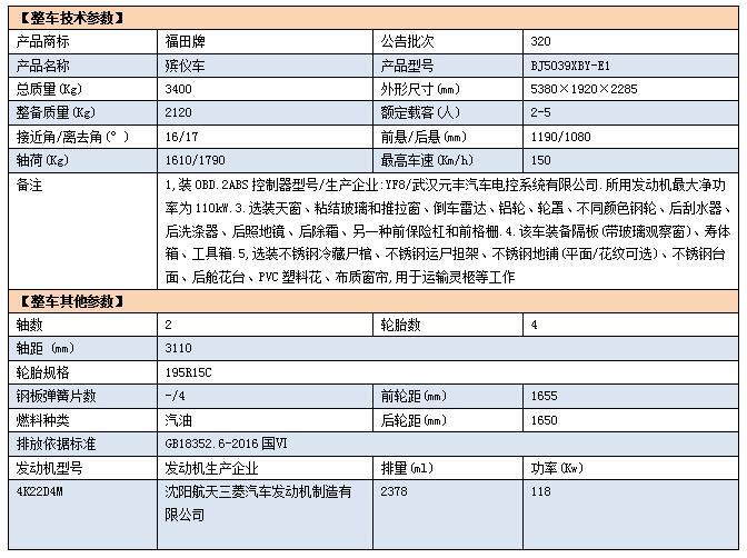 福田G9殡仪车-国六商务殡仪车报价-殡仪专用殡葬车厂家