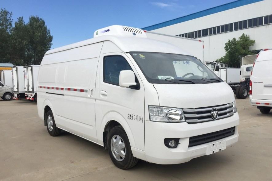 国六福田G9面包冷藏车-7.1方疫苗冷链车报价/药品冷藏车厂家